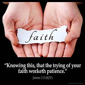 Inspirational Image for James 1:3