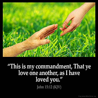 Inspirational Image for John 15:12