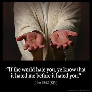 Inspirational Image for John 15:18