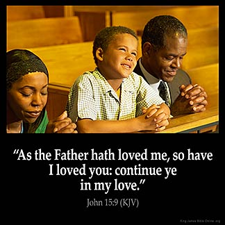 Inspirational Image for John 15:9