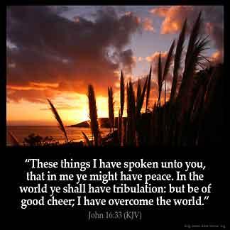 Inspirational Image for John 16:33