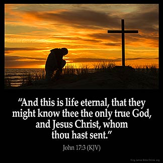 Inspirational Image for John 17:3
