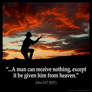 Inspirational Image for John 3:27