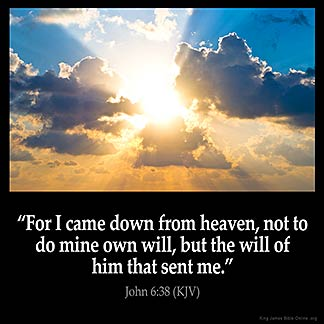 Inspirational Image for John 6:38