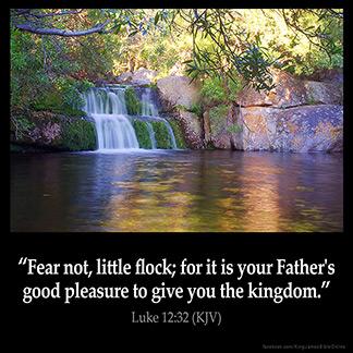 Inspirational Image for Luke 12:32