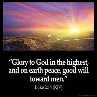 Inspirational Image for Luke 2:14