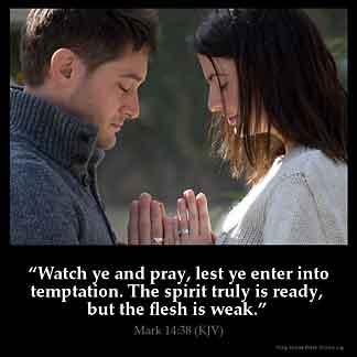 Inspirational Image for Mark 14:38