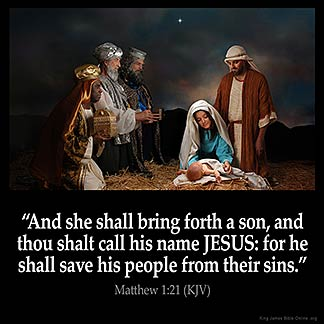 Inspirational Image for Matthew 1:21