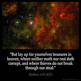 Inspirational Image for Matthew 6:20