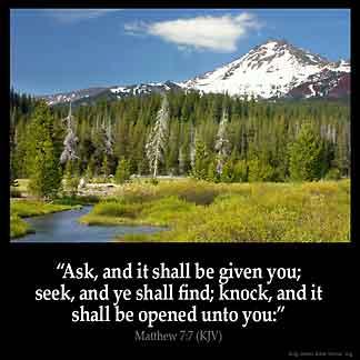 Inspirational Image for Matthew 7:7