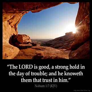 Inspirational Image for Nahum 1:7