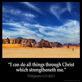 Inspirational Image for Philippians 4:13