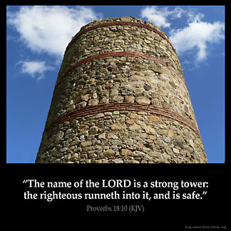 Inspirational Image for Proverbs 18:10