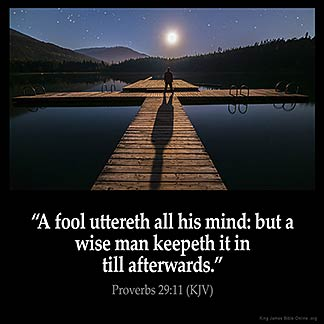 Inspirational Image for Proverbs 29:11