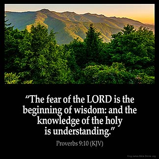 Inspirational Image for Proverbs 9:10