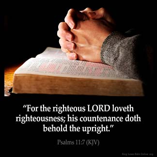 Inspirational Image for Psalms 11:7