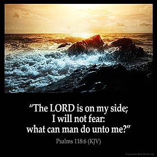 Inspirational Image for Psalms 118:6