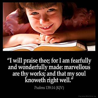 Inspirational Image for Psalms 139:14