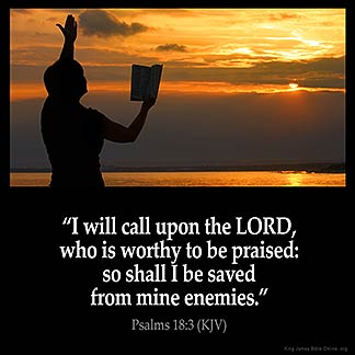 Inspirational Image for Psalms 18:3