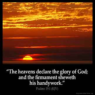 Inspirational Image for Psalms 19:1