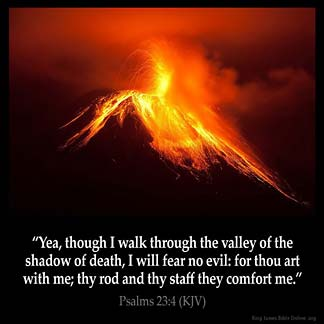 Inspirational Image for Psalms 23:4