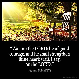 Inspirational Image for Psalms 27:14