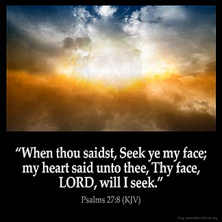 Inspirational Image for Psalms 27:8