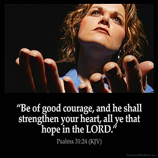 Inspirational Image for Psalms 31:24