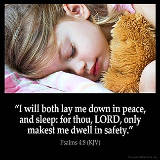 Inspirational Image for Psalms 4:8