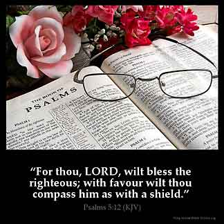 Inspirational Image for Psalms 5:12