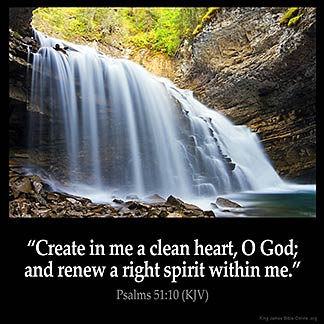 Inspirational Image for Psalms 51:10