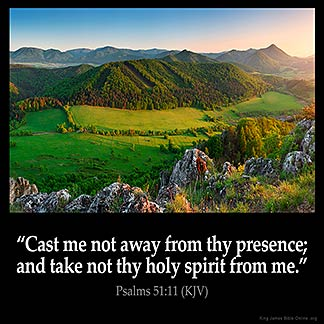 Inspirational Image for Psalms 51:11