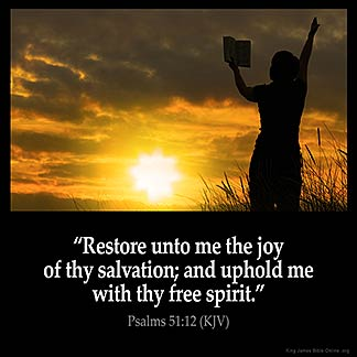Inspirational Image for Psalms 51:12