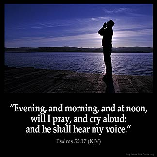 Inspirational Image for Psalms 55:17
