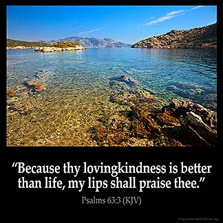 Inspirational Image for Psalms 63:3