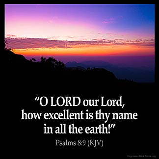 Inspirational Image for Psalms 8:9