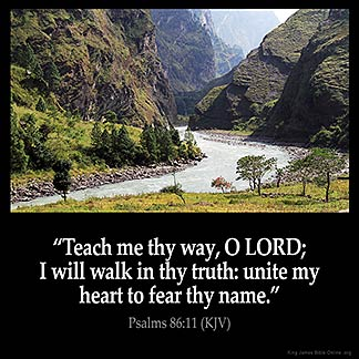 Inspirational Image for Psalms 86:11