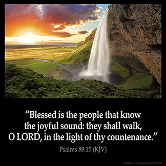Inspirational Image for Psalms 89:15