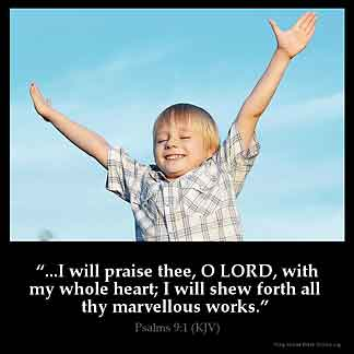 Inspirational Image for Psalms 9:1