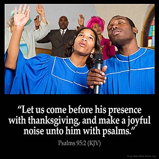 Inspirational Image for Psalms 95:2