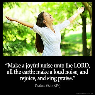 Inspirational Image for Psalms 98:4