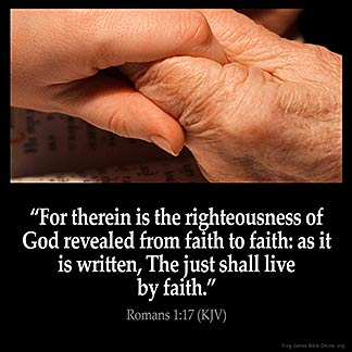 Inspirational Image for Romans 1:17