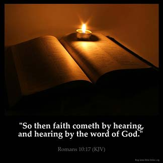 Inspirational Image for Romans 10:17