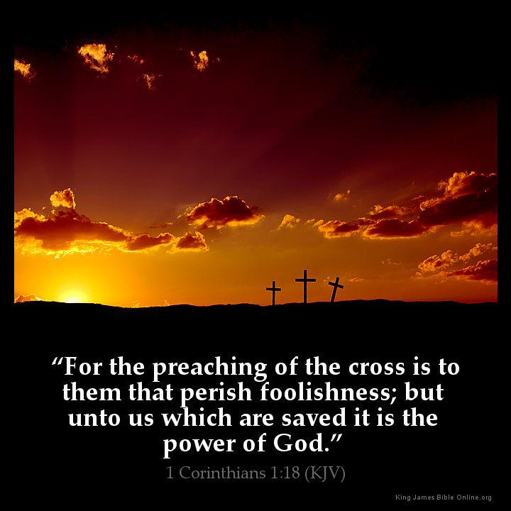 1 Corinthians 1:18 Inspirational Image