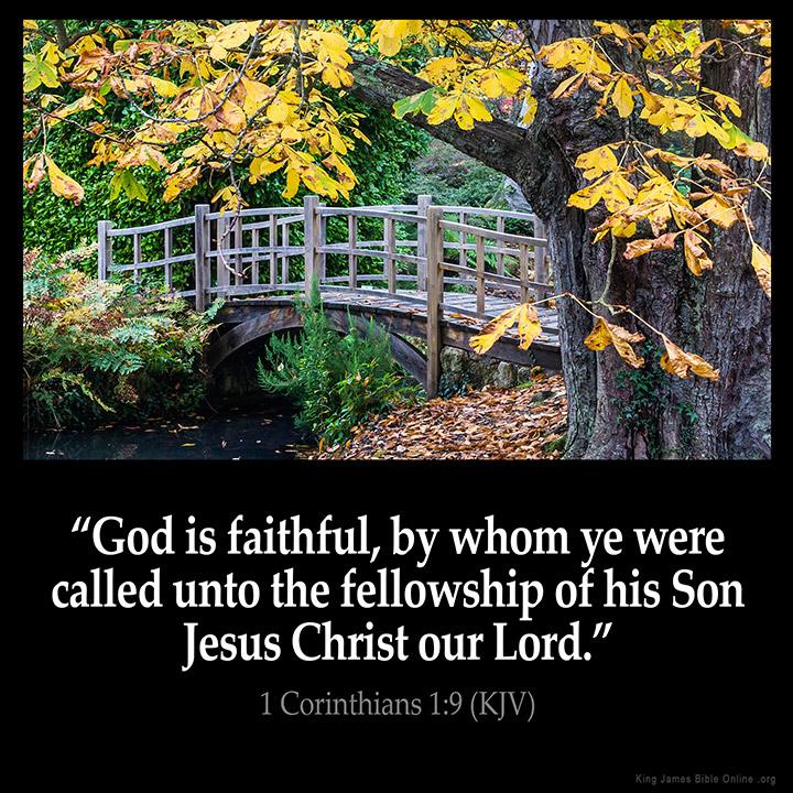 1 Corinthians 1:9 Inspirational Image