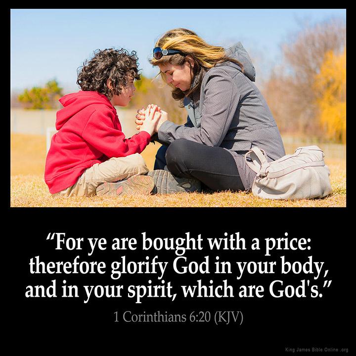 1 Corinthians 6:20 Inspirational Image