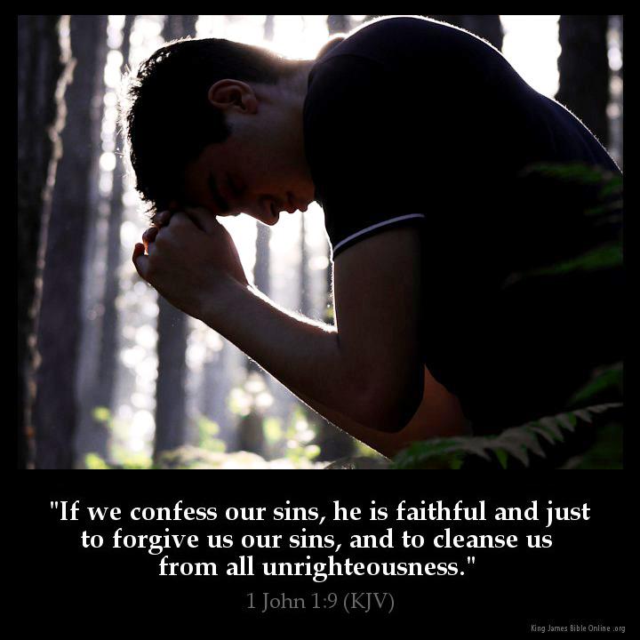 1 John 1 9 Inspirational Image