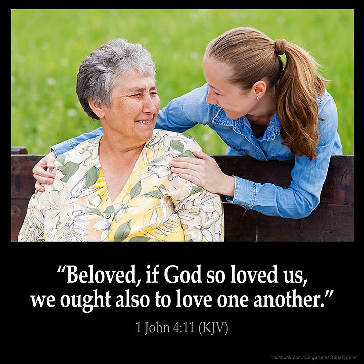 1 John 4:11 Inspirational Image