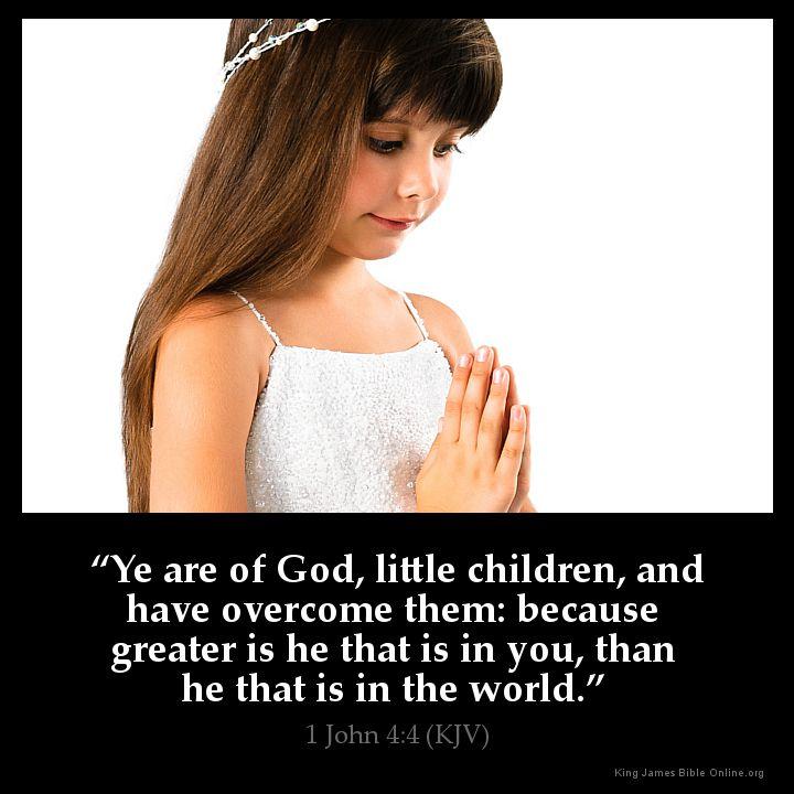 1 John 4:4 Inspirational Image