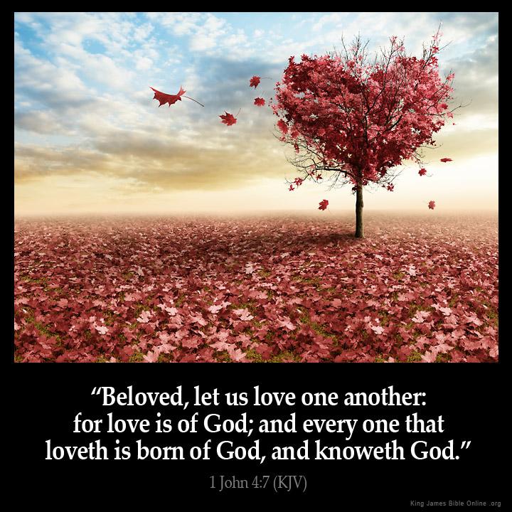 1 John 4:7 Inspirational Image